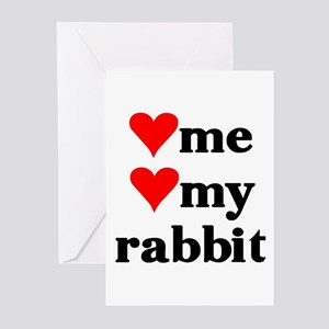LOVE ME LOVE MY RABBIT Greeting Cards (Package of