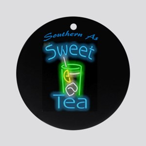 Southern As Sweet Tea Ornament (Round)