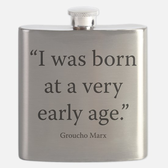 Groucho and Me Flask