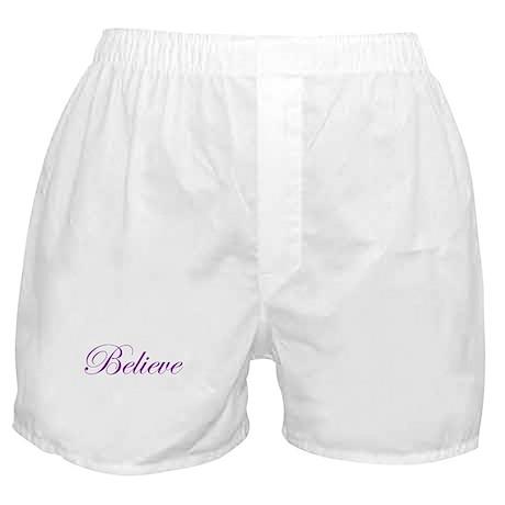 Purple Believe Boxer Shorts