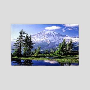 Mt Raineer National Park Area Rug