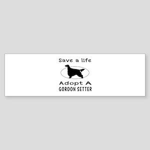 Adopt A Gordon Setter Dog Sticker (Bumper)