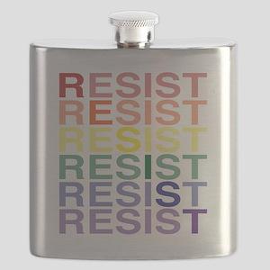 LGBT Pride Resist Diagonal Flask