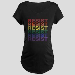 LGBT Pride Resist Diagonal Maternity T-Shirt