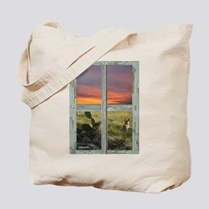 Window into a Texas Hill Country Sunset Tote Bag