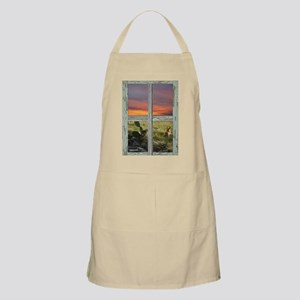 Window into a Texas Hill Country Sunset BBQ Apron