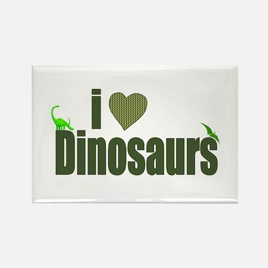 I Love Dinosaurs Rectangle Magnet