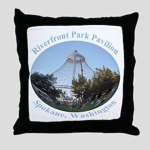 Spokane Riverfront Park Pavilion Throw Pillow