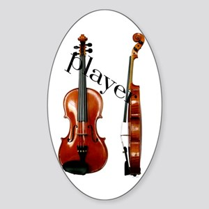 """""""Musical Instruments"""" Oval Sticker"""