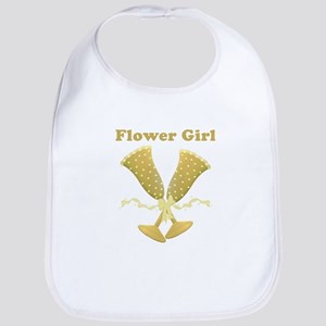 Golden Flower Girl Bib
