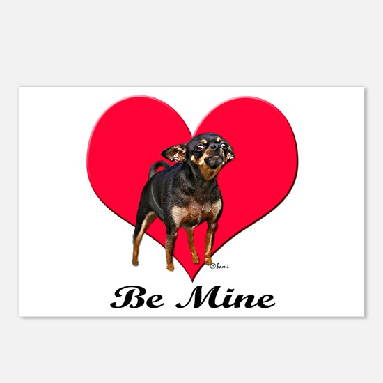 My Chihuahua Valentine Postcards (Package of 8)