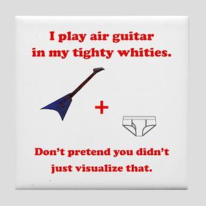 Air Guitar Ambush Tile Coaster