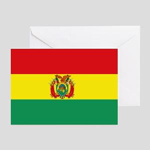 Bolivia flag Greeting Cards (Pk of 10)