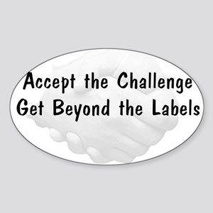 Accept The Challenge v1 Sticker (Oval)