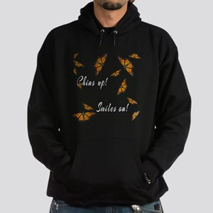 Chins Up Smiles On Catching Fire Hoodie (dark)