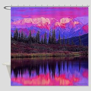 Wonder Lake at Sunset Shower Curtain