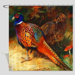 Pheasant Pair Shower Curtain