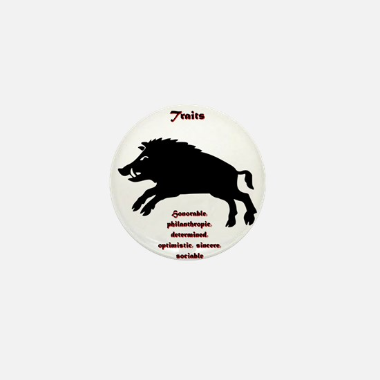 Year of the Boar - Traits Mini Button