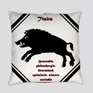 Year of the Boar - Traits Everyday Pillow