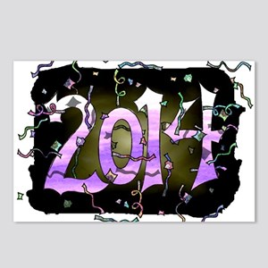 """Happy 2014"" Postcards (Package of 8)"