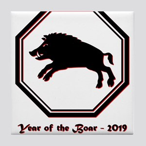 Year of the Boar - 2019 Tile Coaster