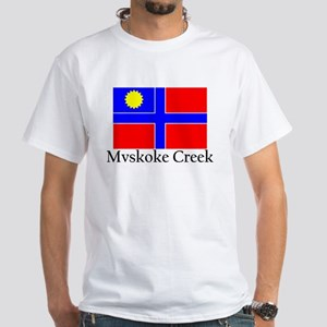 Mvskoke Creek White T-Shirt