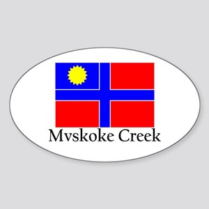 Mvskoke Creek Oval Sticker