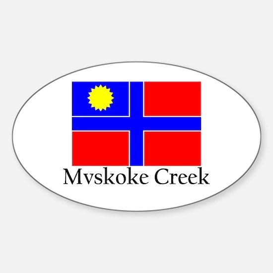 Mvskoke Creek Oval Decal