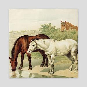 horses Queen Duvet