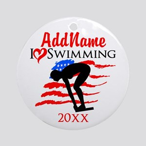 SWIMMING STAR Ornament (Round)