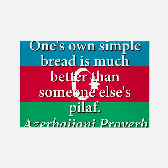Ones Own Simple Bread Rectangle Magnet