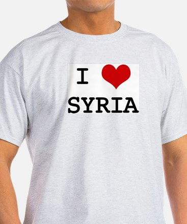 I Heart SYRIA Ash Grey T-Shirt