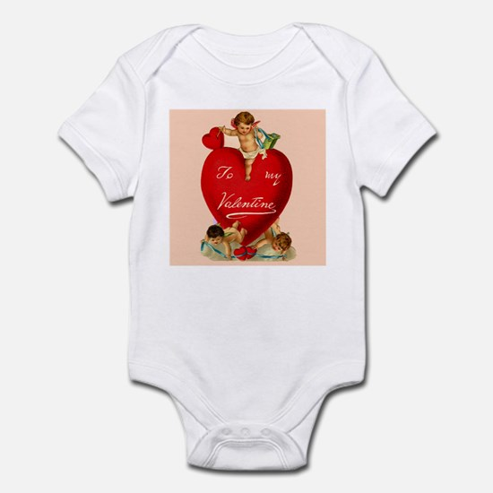 Victorian Valentine Heart Infant Bodysuit