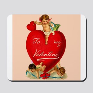 Victorian Valentine Heart Mousepad