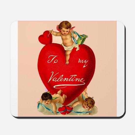 Victorian Valentine Heart Mousepad