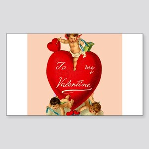 Victorian Valentine Heart Rectangle Sticker