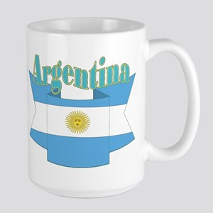Ribbon Argentina Flag Large Mug Mugs