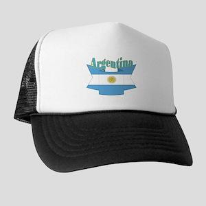 Ribbon Argentina flag Trucker Hat