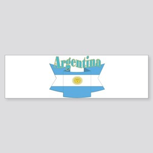 Ribbon Argentina flag Sticker (Bumper)