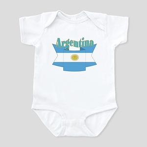 Ribbon Argentina flag Infant Bodysuit