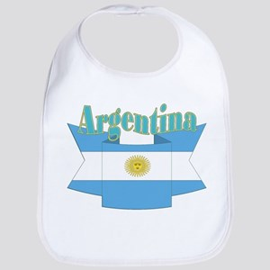 Ribbon Argentina flag Bib