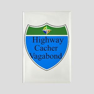 Highway Cacher Vagabond Rectangle Magnet