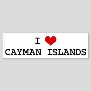 I Heart CAYMAN ISLANDS Bumper Sticker
