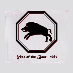 Year of the Boar - 1983 Throw Blanket