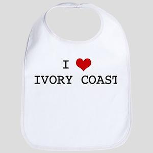 I Heart IVORY COAST Bib