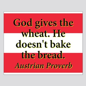 God Gives The Wheat Small Poster