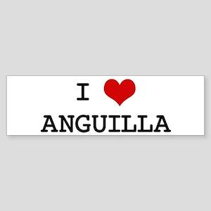 I Heart ANGUILLA Bumper Sticker