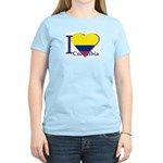 I love Colombia Women's Pink T-Shirt