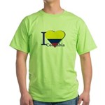 I love Colombia Green T-Shirt