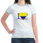 I love Colombia Jr. Ringer T-Shirt